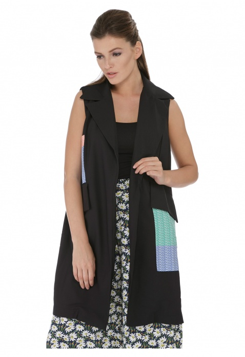 Sleeveless Long Jacket