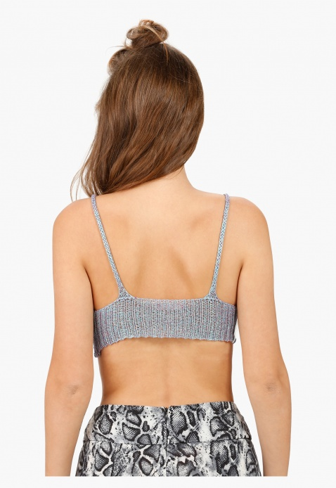 Scoop Neck Bralet Top in Regular Fit