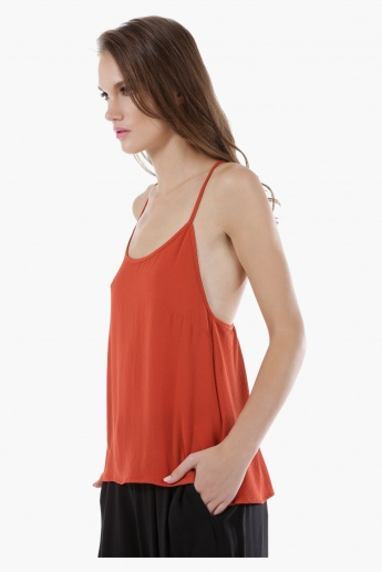 Camisole Top with Back Lace Detail