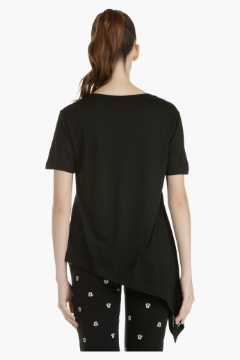 Asymmetrical Top with Short Sleeves