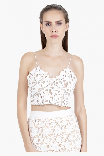 Lace Bralet Top in Regular Fit