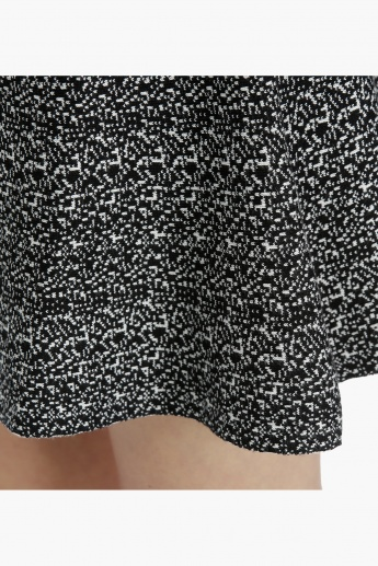 Printed Skirt with elasticised waistband