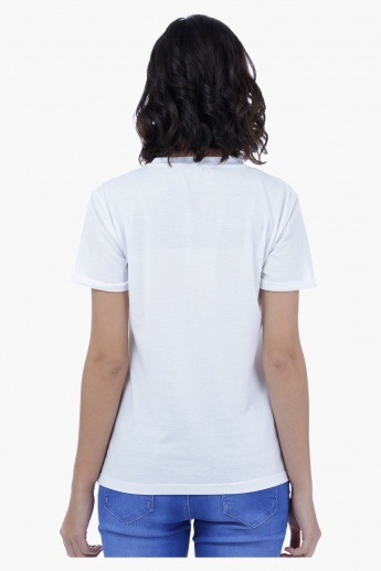 Embroidered T-Shirt with Long Sleeves