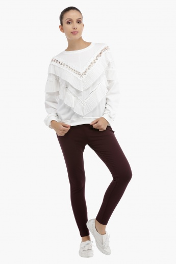 Ruffle Top with Long Sleeves