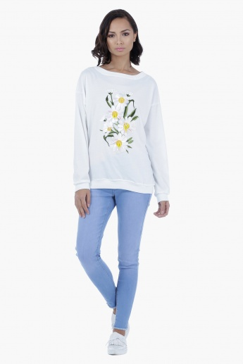 Long Sleeves Embroidered Sweater