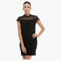 Lace Dress with Cap Sleeves