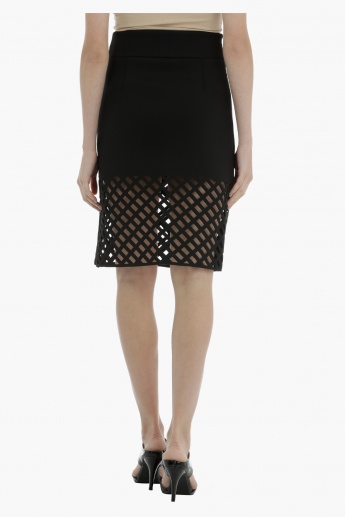 Mesh Skirt with elasticised Waistband