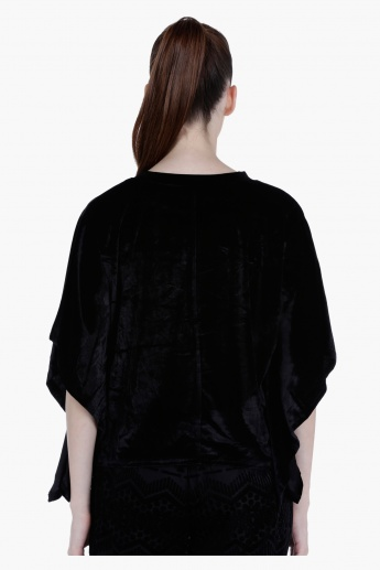 Batwinged Cape Top in Regular Fit