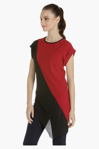 Asymmetrical Top with Cap Sleeves