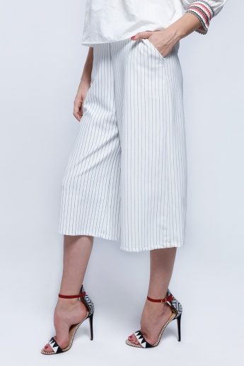 2Xtremz Striped Palazzo Pants with Elasticised Waistband