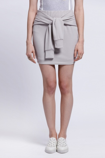 Tie-Up Skirt with Elasticised Waistband