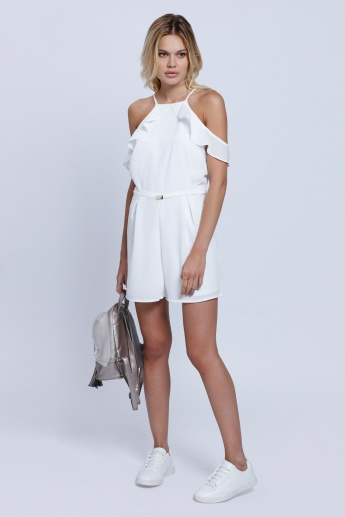2Xtremz Playsuit with Cold Shoulders