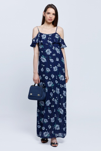 Stappy Double Layer Floral Maxi Dress
