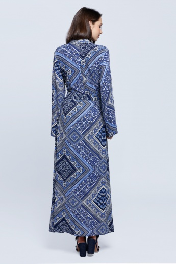 Mozaic Print Wrap Dress