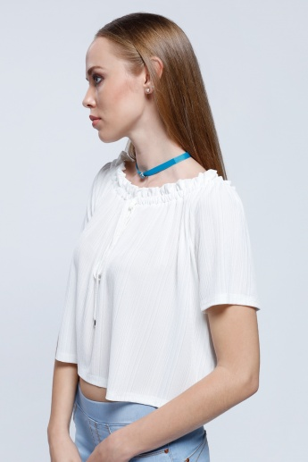 2Xtremz Off Shoulder Top With String Tie Up