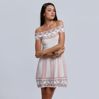 2Xtremz Midi Off Shoulder Dress