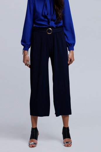 2Xtremz Culotte Pants with Elasticised Waistband and Buckle Belt
