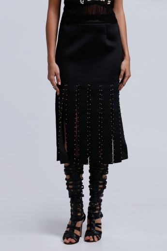 2Xtremz Gladiator Embellished Skirt with Elasticised Waistband
