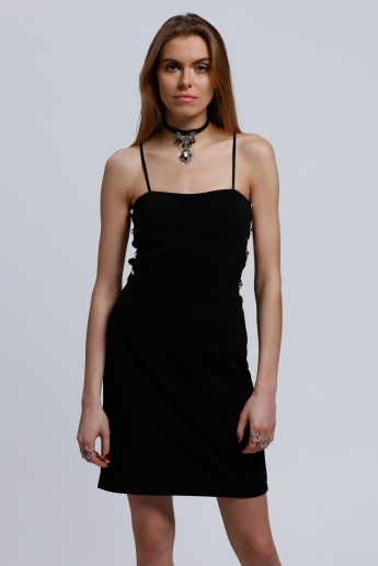 2Xtremz Midi Dress with Spaghetti Straps