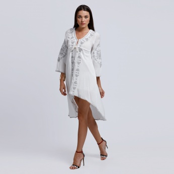 2Xtremz Long Sleeves Dress with High Low Hem