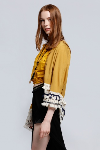 2Xtremz 3/4 Sleeves Shrug with Tassels