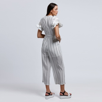 2Xtremz Stripes Short Sleeves Jumpsuit