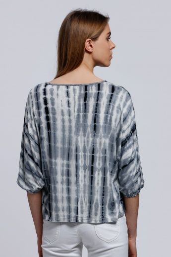 2Xtremz Printed 3/4 Sleeves Top