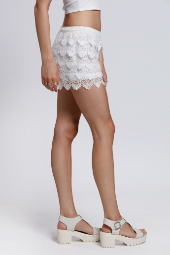 2Xtremz Lace 5-Tier Shorts with Elasticised Waistband