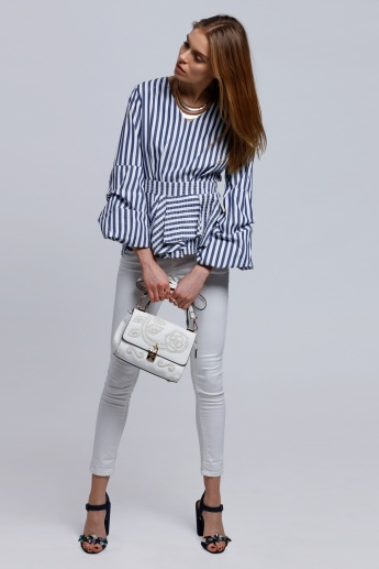 2Xtremz Striped Long Sleeves Top