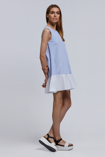2Xtremz Sleeveless Dress with Round Neckline