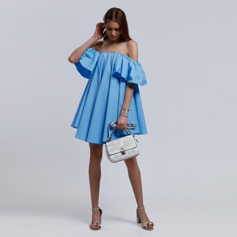 2Xtremz Off Shoulder Dress with Poplin Straps