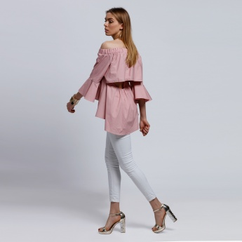 2Xtremz Off Shoulder Top with Open Back