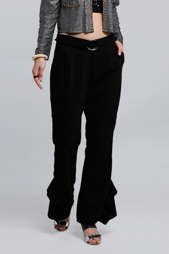 Full Length Pants with Wide Bottoms