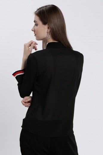 Shirt with Long Sleeves and Ruffles