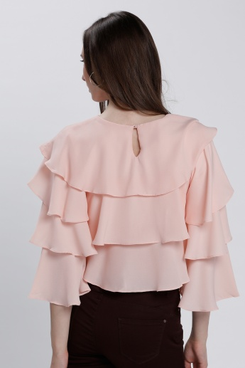 Multi Layer Ruffle Top
