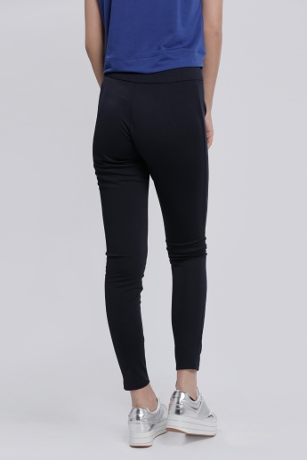 Full Length Leggings with Zip Detailing