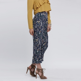 Printed Pants with Elasticised Waistband