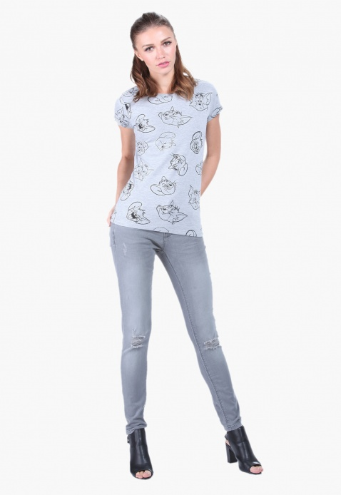 Tom and Jerry Printed T-Shirt