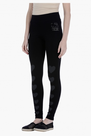 Printed Jeggings in Straight Fit