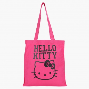 Hello Kitty Printed Canvas Tote Bag