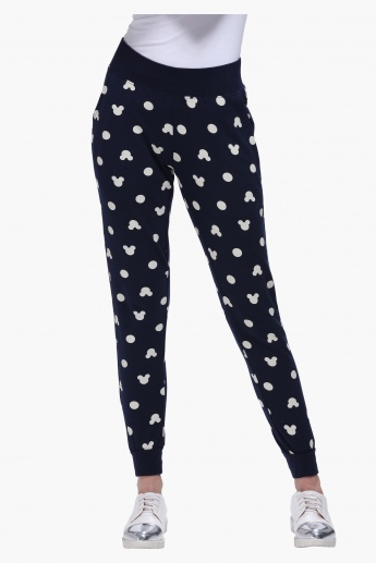 Mickey Mouse Print Jog Pants