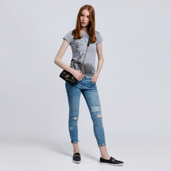 Elsa Printed T-Shirt with Round Neck and Short Sleeves