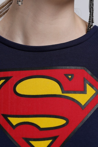 Superman T-Shirt with Round Neck and Short Sleeves