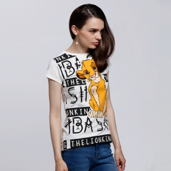 The Lion King Printed Round Neck T-Shirt