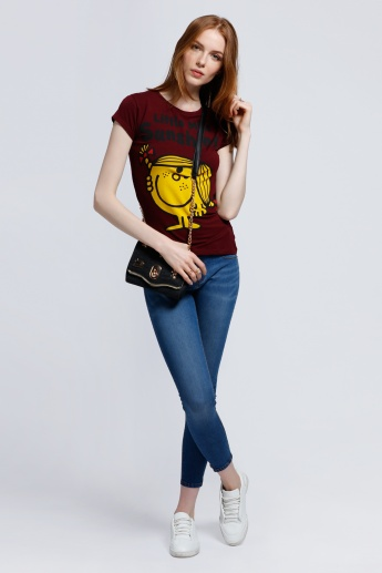 Little Miss Sunshine Printed Short Sleeves T-Shirt in Regular Fit