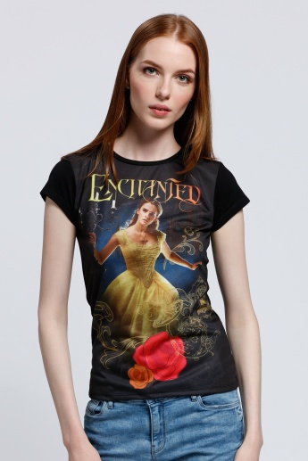 Beauty and the Beast Printed Short Sleeves T-Shirt