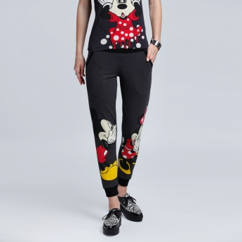 Mickey Mouse and Minnie Mouse Printed Joggers