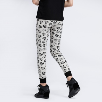 Minnie Mouse Printed Joggers with Elasticised Waistband