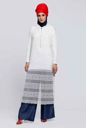 Ivory Lace Dress with Inner Top