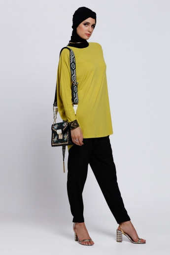 Batwing Sleeves Top with Round Neck